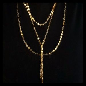 Baublebar Layered Y-chain Necklace